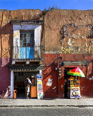 Rustic Dining In Puebla Mexico Art Print by Mark E Tisdale