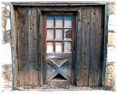 Photograph - Rustic Door 1 by Kate Word