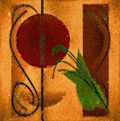 Painting - Rustic Elegance Geometric Autumn Abstract by Tracie Kaska