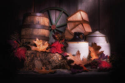 Crocks Photograph - Rustic Fall Still Life by Tom Mc Nemar