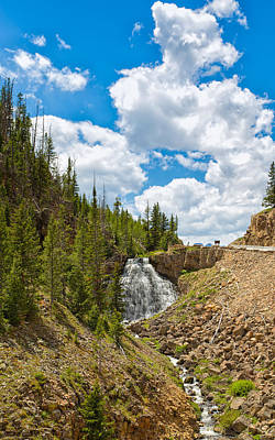 Photograph - Rustic Falls Yellowstone by John M Bailey