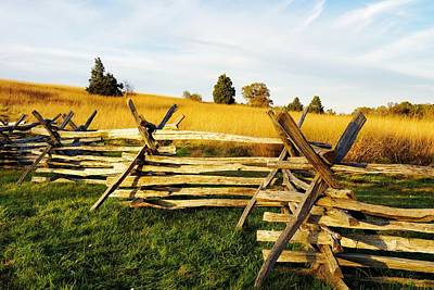 Photograph - Rustic Fence In The Early Evening by Jean Goodwin Brooks