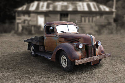 Print featuring the photograph Rustic Ford Truck by Keith Hawley
