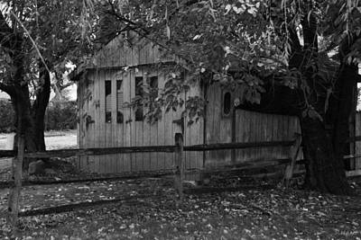 Travel Rights Managed Images - RUSTIC GARAGE in BLACK AND WHITE Royalty-Free Image by Rob Hans