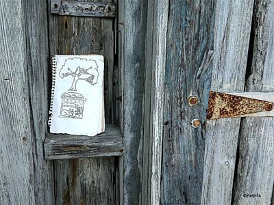 Cedar Key Photograph - Rustic Gate Random Art Cedar Key by Rebecca Korpita