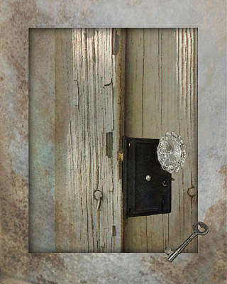 Rustic Glass Door Knob Art Print