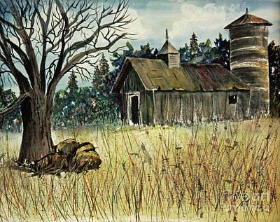 Painting - Rustic Grange by Terri Mills