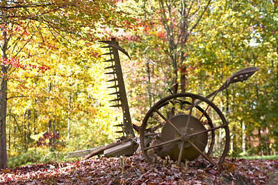 Art Print featuring the photograph Rustic Hay Cutter by Robert Camp