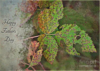 Photograph - Rustic Leaves Father's Day Card II  by Debbie Portwood