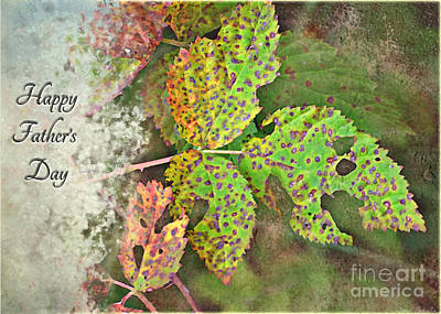 Photograph - Rustic Leaves Father's Day IIi by Debbie Portwood