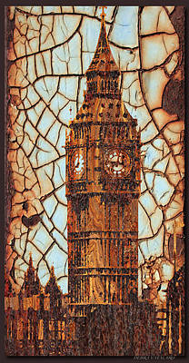 Photograph - Rustic Lite Big Ben by Debra     Vatalaro