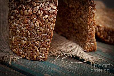 Rustic Loaf Of Bread Art Print by Mythja  Photography