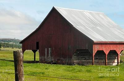 Photograph - Rustic Old Barn by Audrey Van Tassell