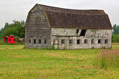 Photograph - Rustic Old Barn by Bob Noble
