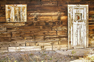 Photograph - Rustic Old Colorado Barn Door And Window by James BO  Insogna