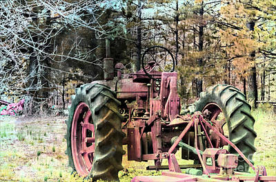 Photograph - Rustic Old Tractor by Debbie Portwood