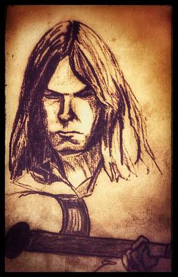Neil Young Drawing - Rustic Perspective by Edward Pebworth