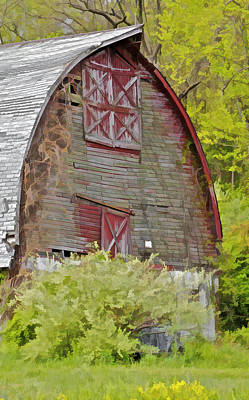 Rustic Red Barn II Art Print