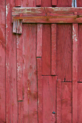 Photograph - Rustic Red Barn Wall II by David Letts