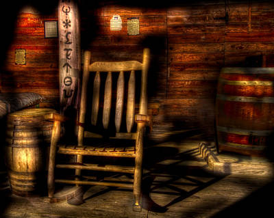 Rocking Chairs Photograph - Rustic Rocking by Mark Andrew Thomas