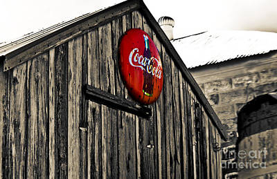 Coca-cola Signs Photograph - Rustic by Scott Pellegrin