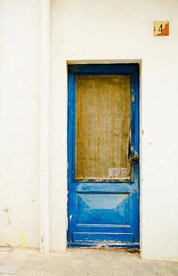 Door Photograph - Rustic Shade Blue Door Of Spain by Calvin Hanson