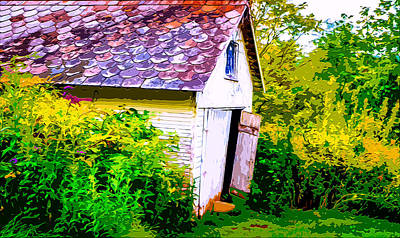 Entrance Door Mixed Media - Rustic Shed 2 by Brian Stevens