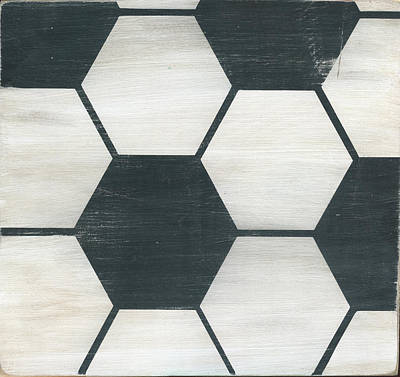 Ball Room Painting - Rustic Soccer by Alli Rogosich