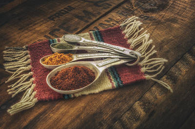 Bright Photograph - Rustic Spices by Scott Norris