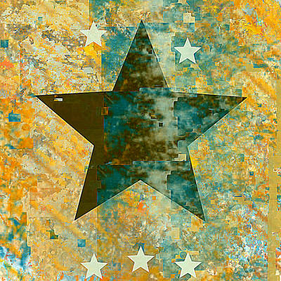 Digital Art - Rustic Star #2 by Jessica Wright