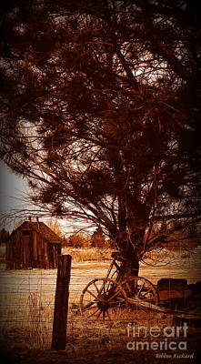 Pinion Photograph - Rustic Times Gone By Iv by Bobbee Rickard