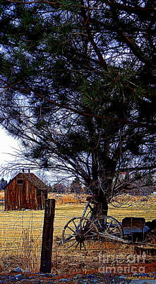 Pinion Photograph - Rustic Times Gone By V by Bobbee Rickard