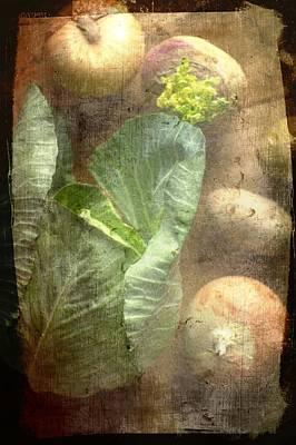 Rustic Vegetable Fruit Medley IIi Art Print
