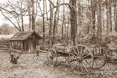 Rustic Wagon Art Print