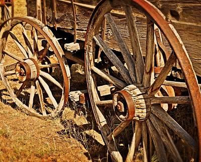 Rustic Wheels Art Print