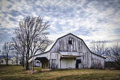 Rustic White Barn Art Print by Cricket Hackmann