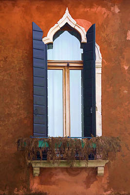 Photograph - Rustic Window Italy by Indiana Zuckerman