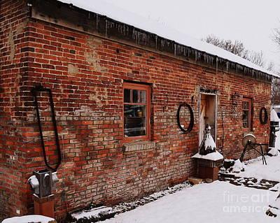 Rustic Workshop In Winter Art Print