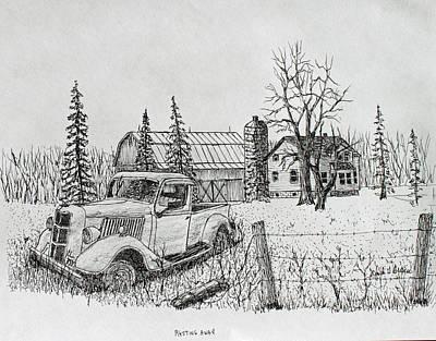 Rusting Away Art Print by Jack G  Brauer
