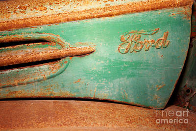 Rusting Ford Print by James Brunker