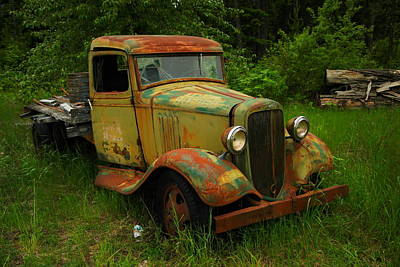 Old Trucks Photograph - Rusting In The Weeds by Jeff Swan
