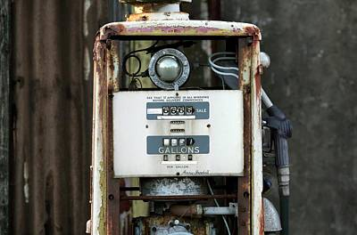Rusting Petrol Pump Art Print by Martin Bond