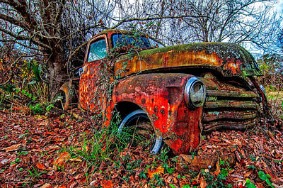 Autos Photograph - Rusty 1950 Chevrolet by Andy Crawford