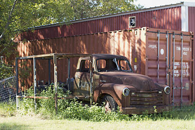 Photograph - Rusty Abandoned Pickup Truck by Susan Schroeder