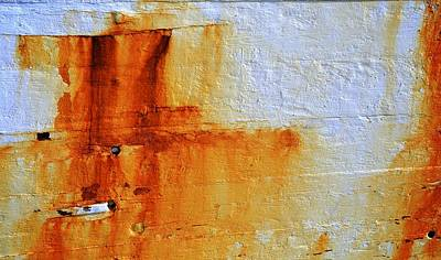 Photograph - Rusty Abstract by Corinne Rhode
