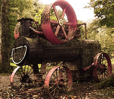 Rusty Antique Steam Engine Art Print