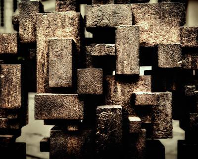 Rectangles Photograph - Rusty Art by Joan Carroll