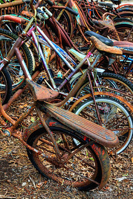 Photograph - Rusty Bicycles by Denise Bush