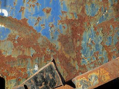 Photograph - Rusty Bins 4 by Anita Burgermeister