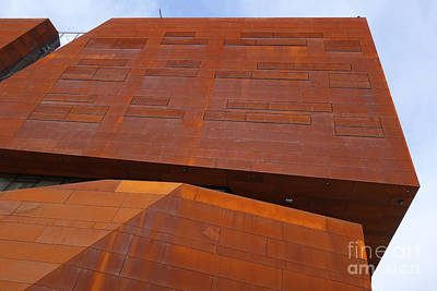 Photograph - Rusty Blocks Wu Campus Vienna by Menega Sabidussi